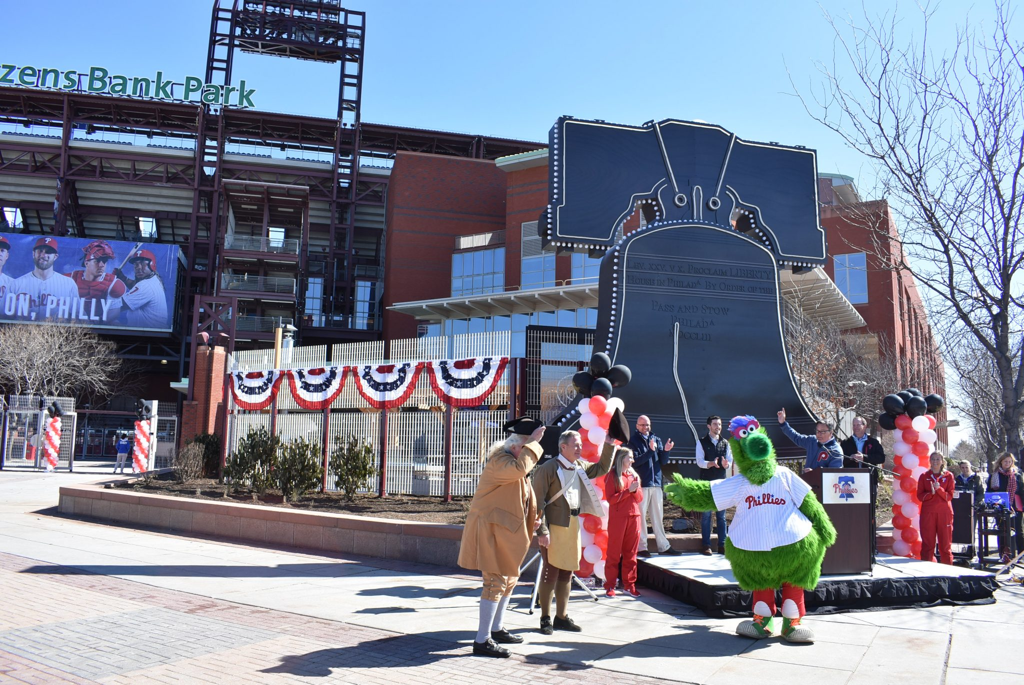 6543dcd53910 The liberty bell from Veterans Stadium was tracked down from a local  scrapyard and erected at the third base gate in Citizens Bank Park