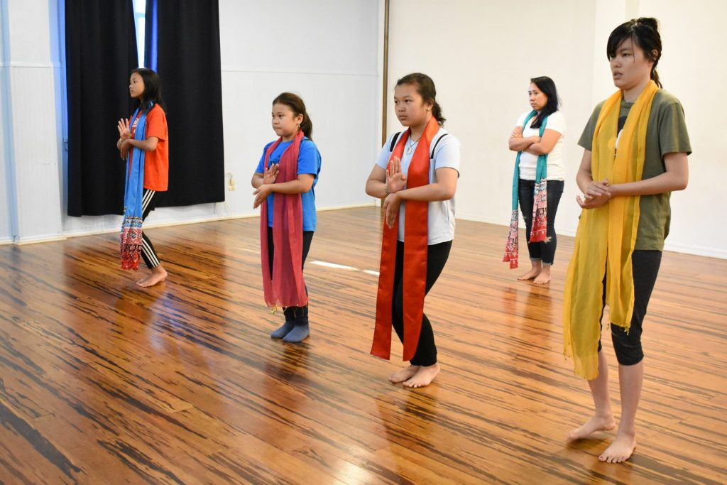Local Indonesian dance group featured on live television