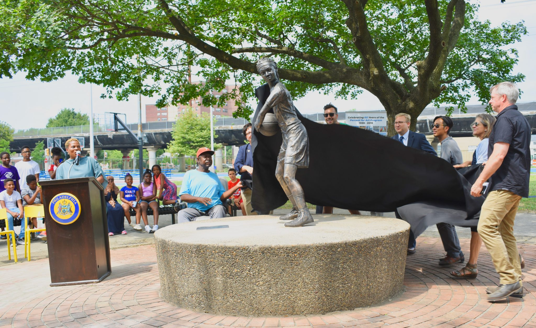 First public art portraying an individual African-American girl