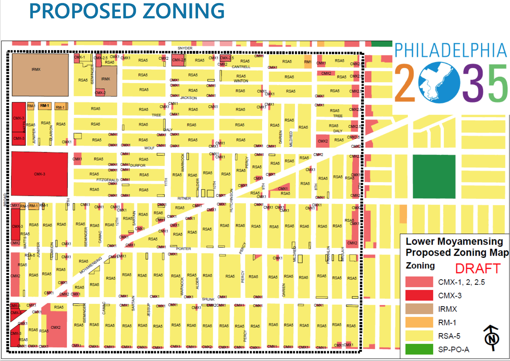 Lower Moyamensing sees zoning shifts in the Philadelphia2035