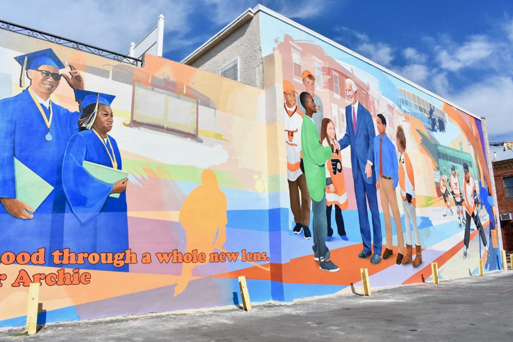 New mural reveals the life and legacy of Ed Snider - South Philly Review